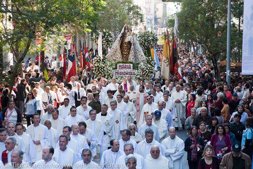 procesión de la virgen del carmen, foto de tito alarcon
