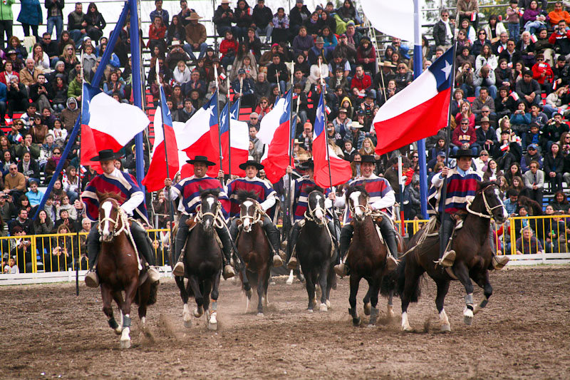 Escuadra Ecuestre Palmas de Peñaflor en la Semana de la Chilenidad 2012