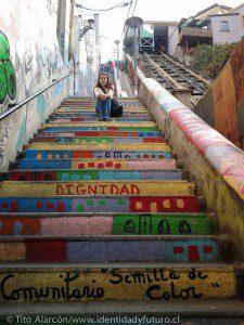 escalera del cerro cordillera en identidadyfuturo.cl foto de tito alarcon