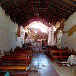 Daños al interior de la iglesia de Mocha http://identidadyfuturo.cl