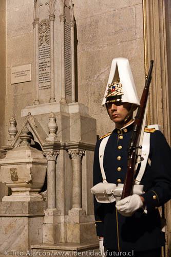 En la catedral de Santiago se encuentran los corazones de los cuatro oficiales que murieron en el Combate de la Concepción