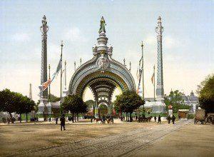 Gran entrada a la exposición universal de parís de 1900