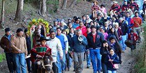 vichuquen procesión virgen del carmen fiestas religiosas