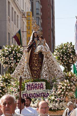 procesion de la virgen del carmen dua de la oracion por chile
