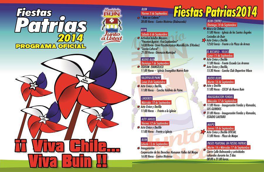programa fiestas patrias 2014 buin