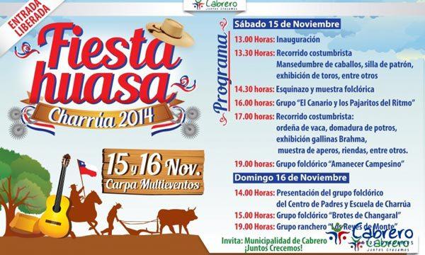 """""""Fiesta Huasa del Campo Chileno"""" en Charrúa, Cabrero progrma"""