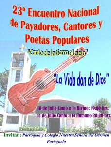 23° Encuentro Nacional de Payadores, Cantores y Poetas Populares en Portezuelo