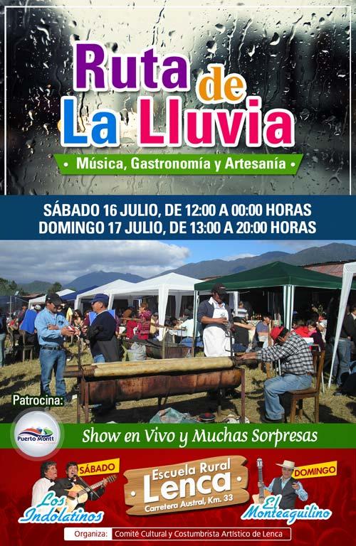 Fiesta Costumbrista Ruta de la Lluvia en Lenca, Puerto Montt