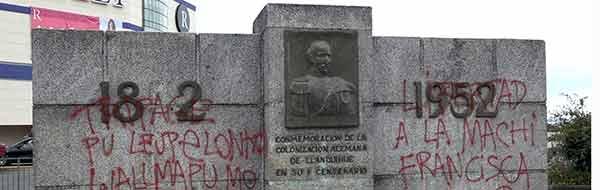 Vándalos Atentan contra Estatuas de Próceres y Colonizadores Alemanes en Puerto Montt