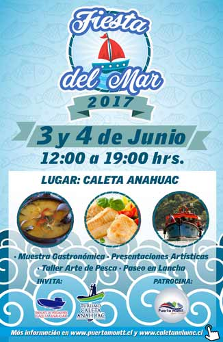 Gastronomía y Folclore en la 1º Fiesta del Mar en Caleta Anahuac, Puerto Montt