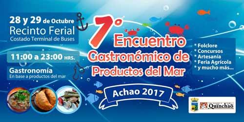 7º Encuentro Gastronómico de Productos del Mar en Achao, Chiloé