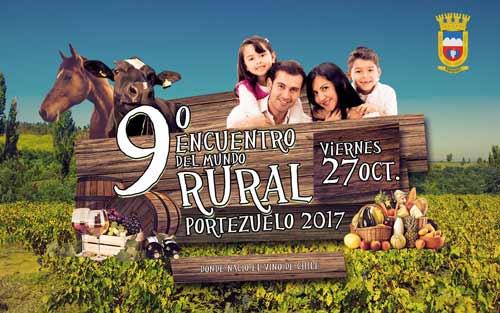 """""""Encuentro del Mundo Rural de Portezuelo 2017, tradiciones de nuestro campo"""" se realizará el día Viernes 27 de Octubre, en el Sector Criollo las Cocinas."""