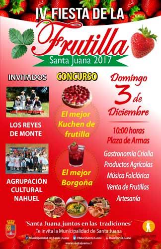 Santa Juana, VIII Región, celebrará este fin de semana la Fiesta de la Frutilla 2017