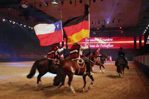 El Huaso y el Caballo Chileno se lucen en Alemania gracias a la Escuadra Ecuestre Palmas de Peñaflor