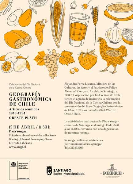 Libro Geografía Gastronómica de Chile: textos de Oreste Plath escritos entre 1942 y 1994