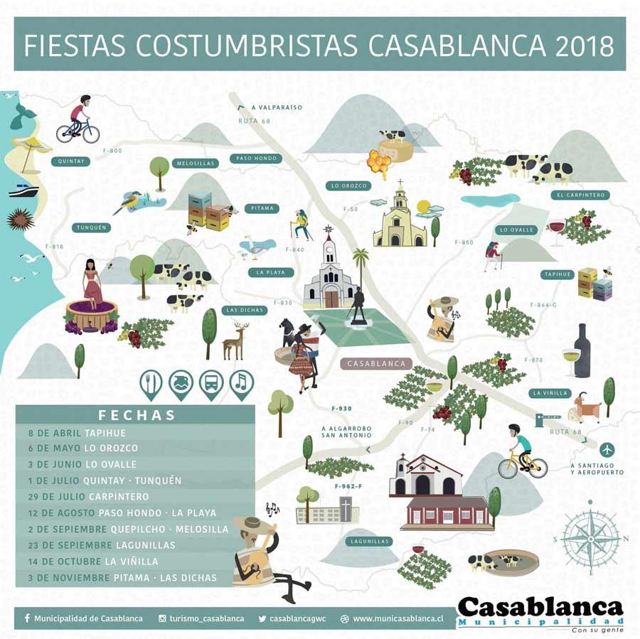 Calendario de Fiestas Costumbristas de Casablanca 2018