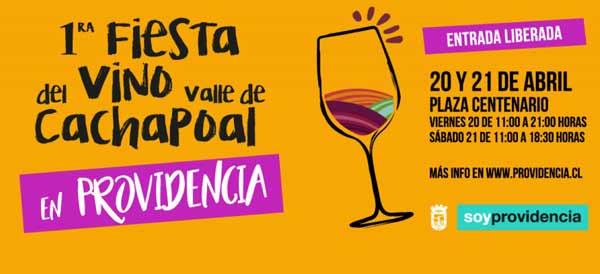 I Muestra del Vino del Valle del Cachapoal en Providencia