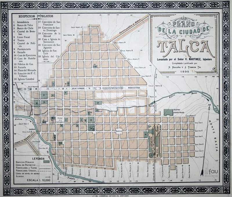 Universidad de Chile difunde planos y mapas históricos del país en su Biblioteca Digital