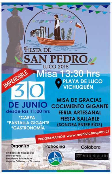 Fiesta de San Pedro en Llico, Vichuquén 2018