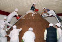 fiesta del chocolate pucon 2018. volcan de chocolate