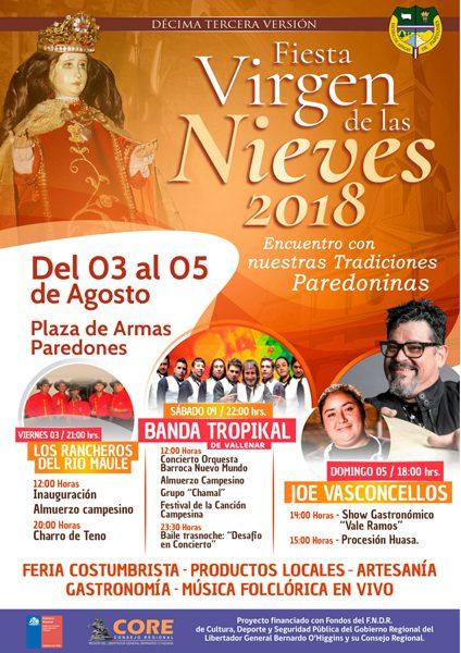 XIIIª Fiesta de la Virgen de las Nieves de Paredones 2018
