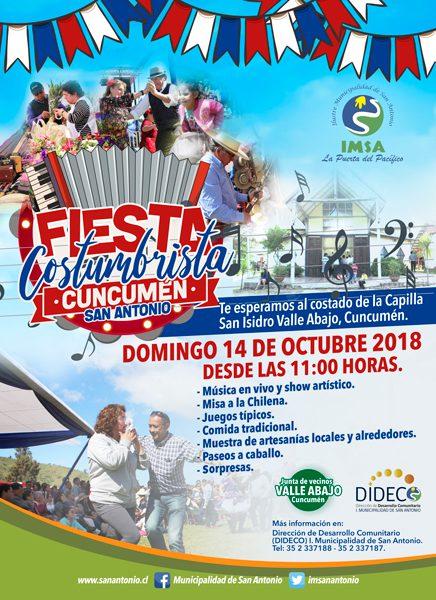 Fiesta Costumbrista de Cuncumén 2018, San Antonio