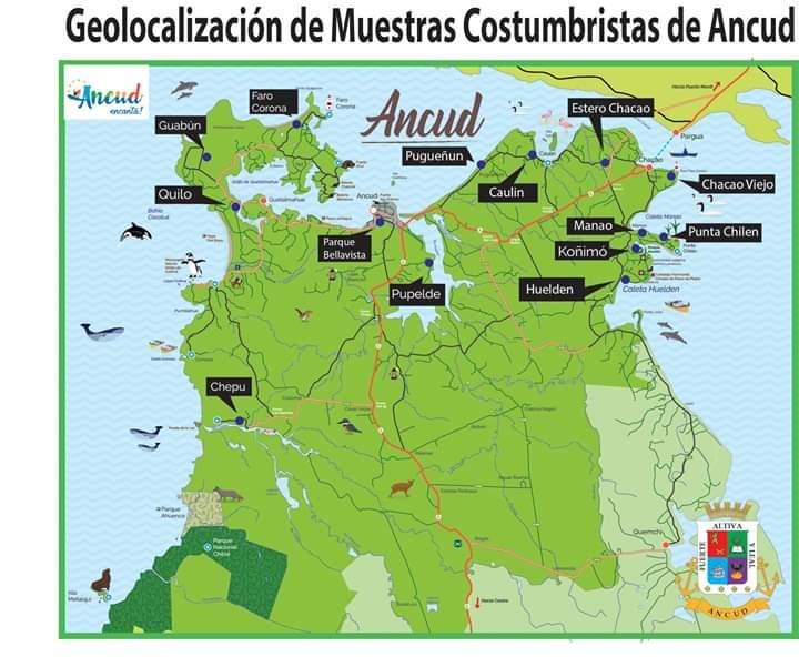 mapa de las fiestas costumbristas de ancud