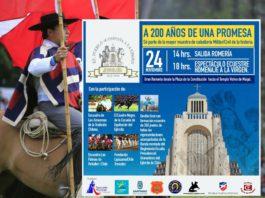 Romería y Desfile Ecuestre en honor a la Virgen del Carmen en el Santuario Votivo de Maipú