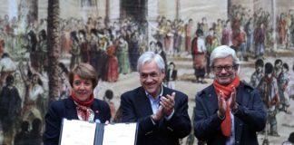 Presidente Piñera firma proyecto de ley que promueve el reconocimiento y cuidado del patrimonio cultural de Chile