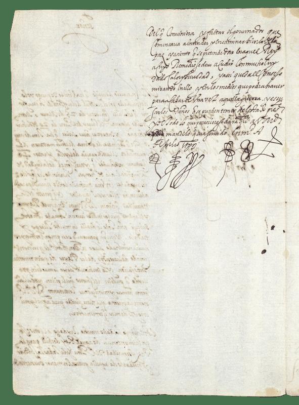 carta militar del archivo de indias que da cuenta de la muerte del gobernador de chile m