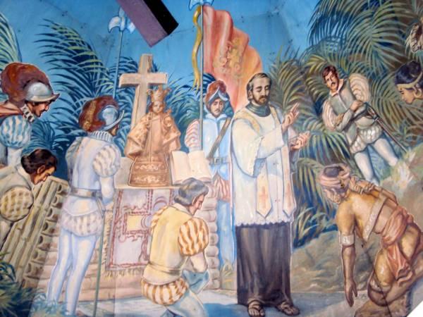 Fray Pedro de Valderrama, capellán de Hernando de Magallanes, recordado en la capilla de la Cruz de Magallanes en Cebú, Filipinas